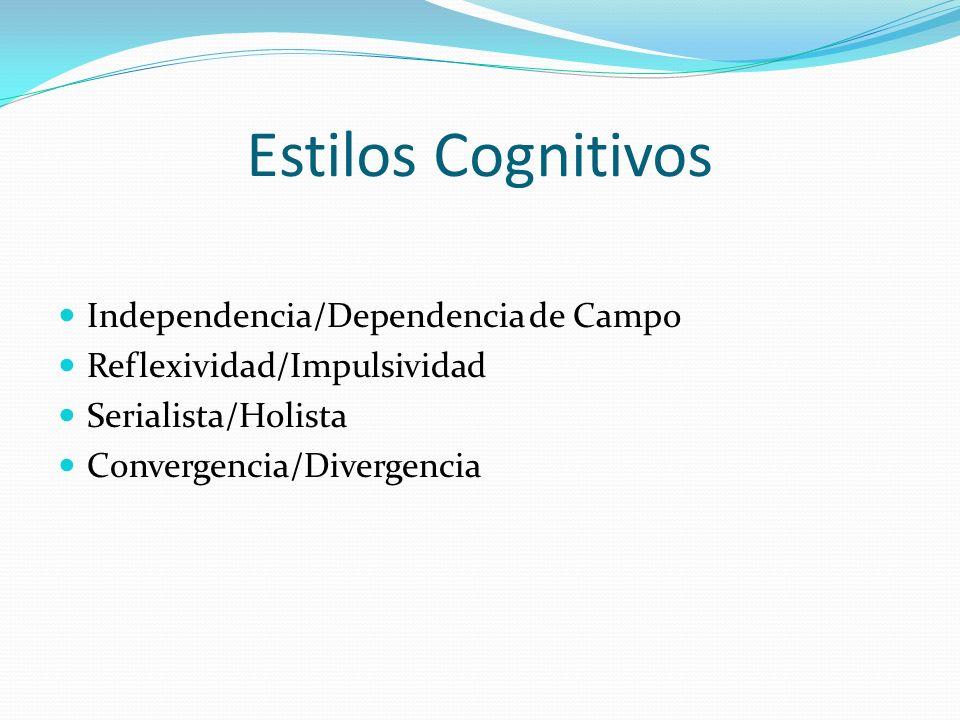 Estilos Cognitivos Independencia/Dependencia de Campo