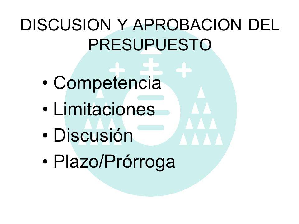 DISCUSION Y APROBACION DEL PRESUPUESTO