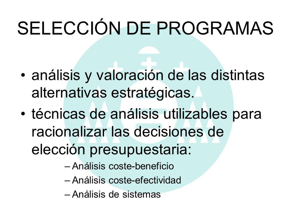 SELECCIÓN DE PROGRAMAS