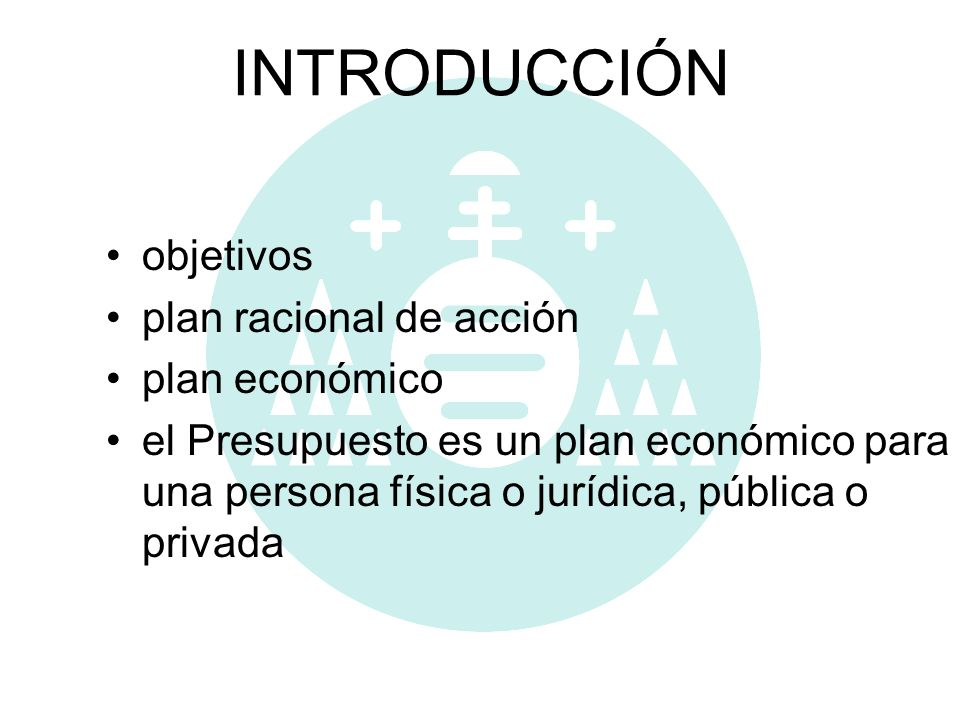 INTRODUCCIÓN objetivos plan racional de acción plan económico