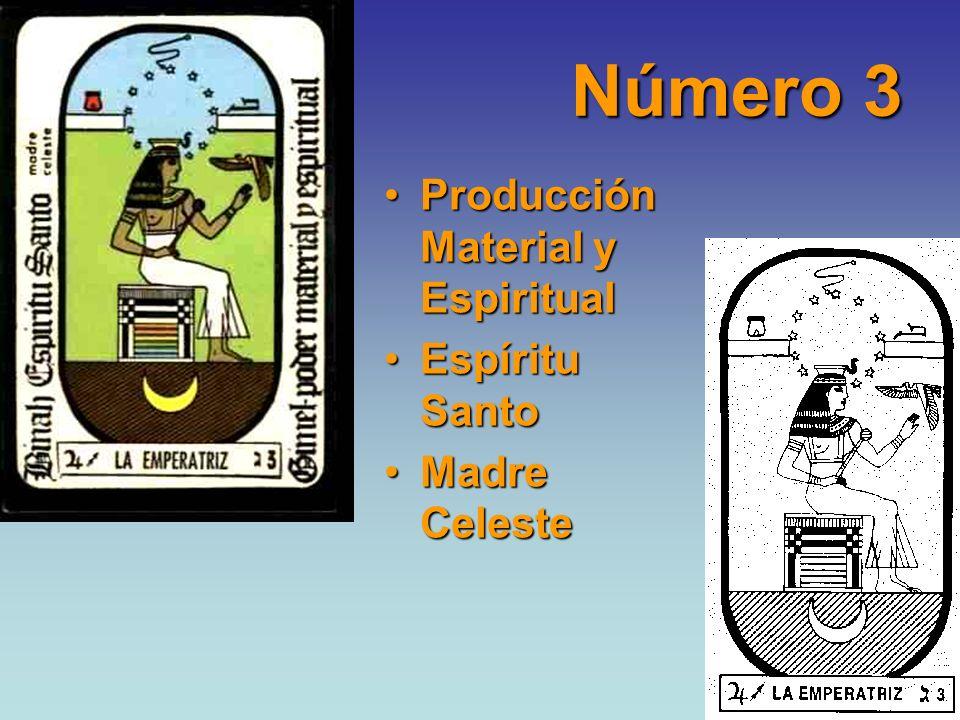 Número 3 Producción Material y Espiritual Espíritu Santo Madre Celeste