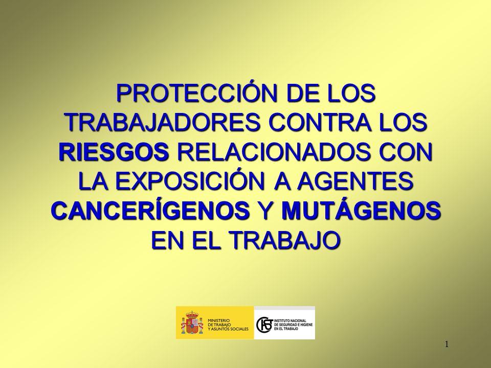 PROTECCIÓN DE LOS TRABAJADORES CONTRA LOS RIESGOS RELACIONADOS CON LA EXPOSICIÓN A AGENTES CANCERÍGENOS Y MUTÁGENOS EN EL TRABAJO