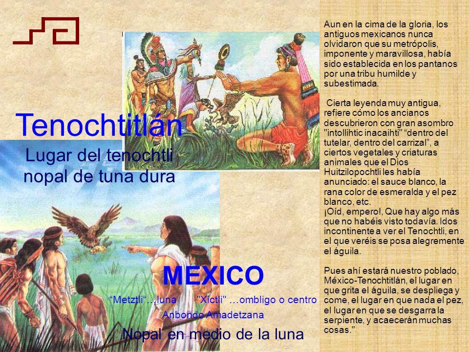 Tenochtitlán MEXICO Lugar del tenochtli nopal de tuna dura