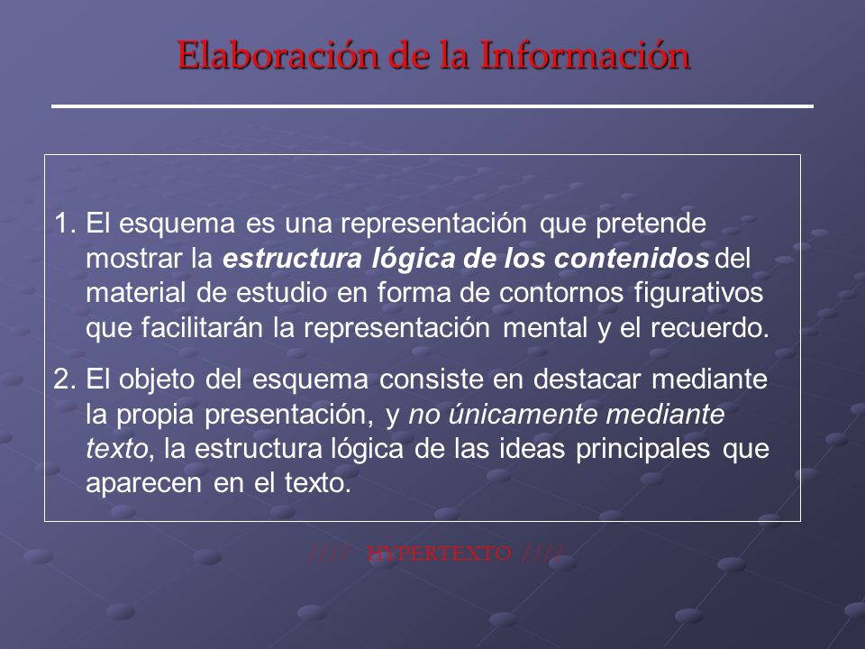 Elaboración de la Información