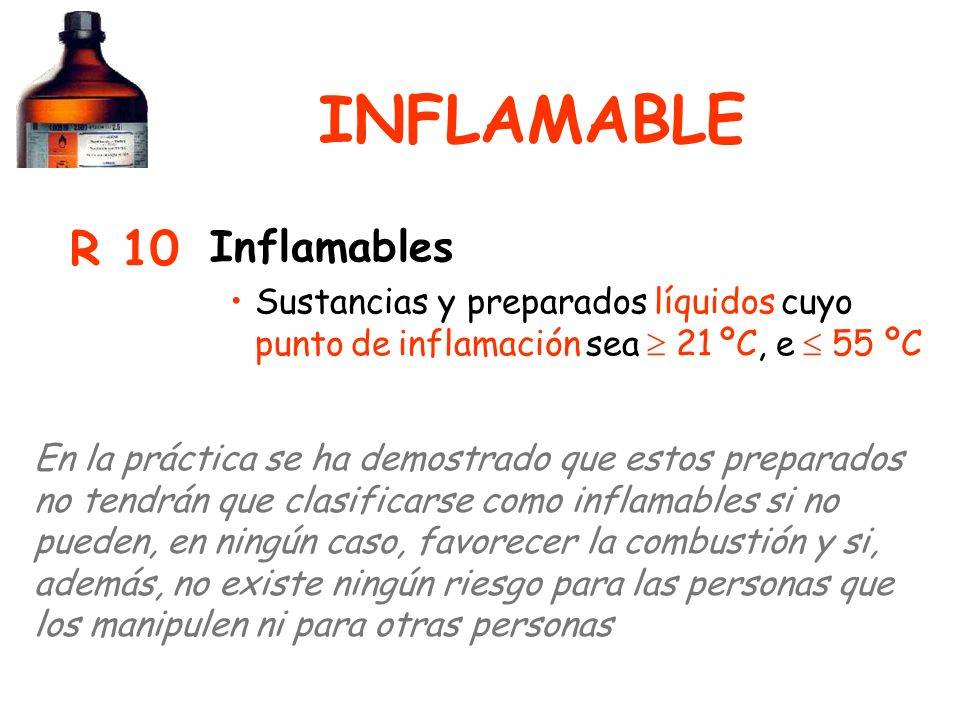 INFLAMABLE R 10 Inflamables