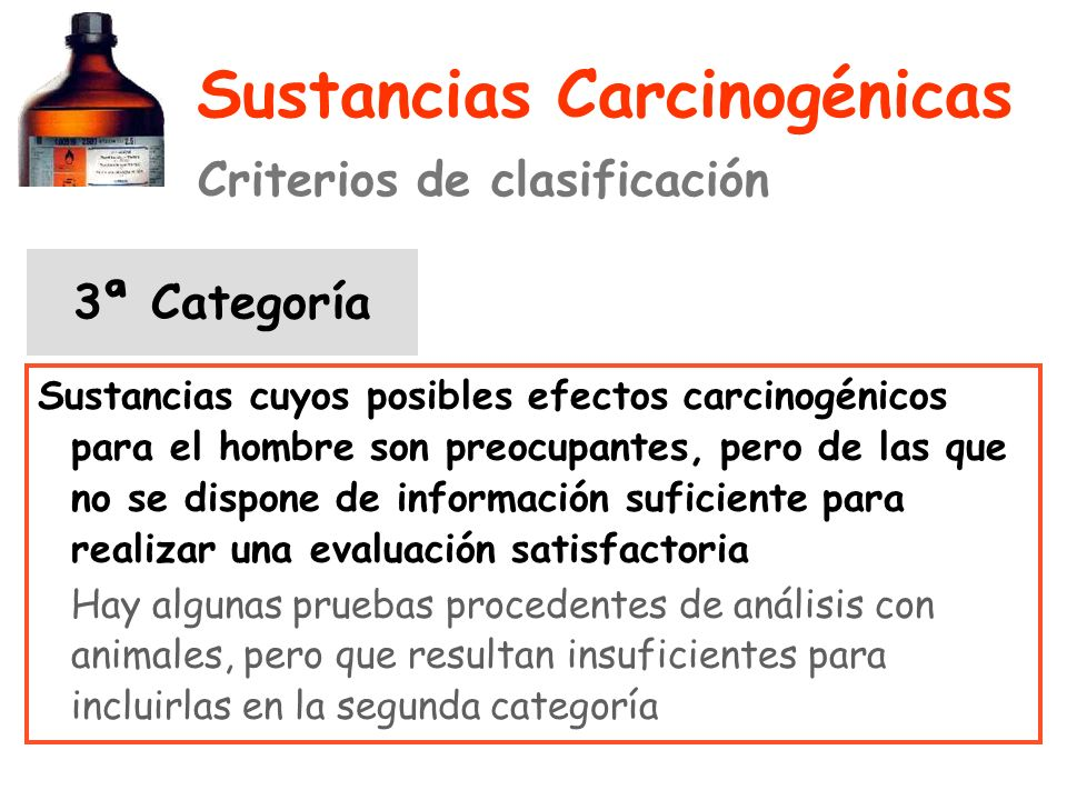Sustancias Carcinogénicas