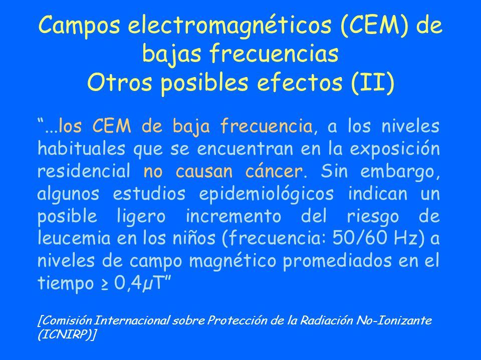 Campos electromagnéticos (CEM) de bajas frecuencias