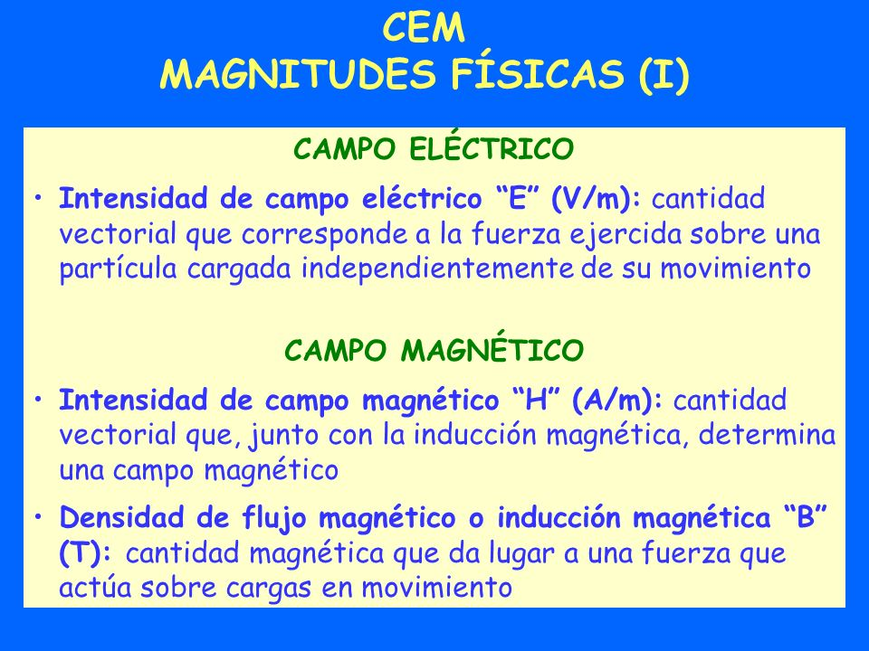 MAGNITUDES FÍSICAS (I)
