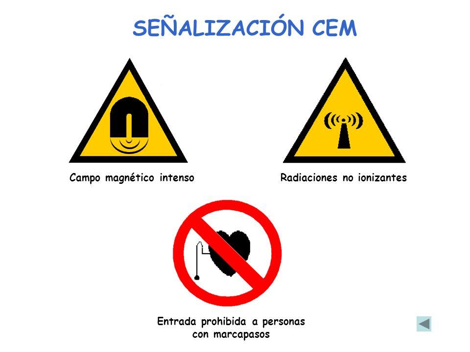 Entrada prohibida a personas con marcapasos