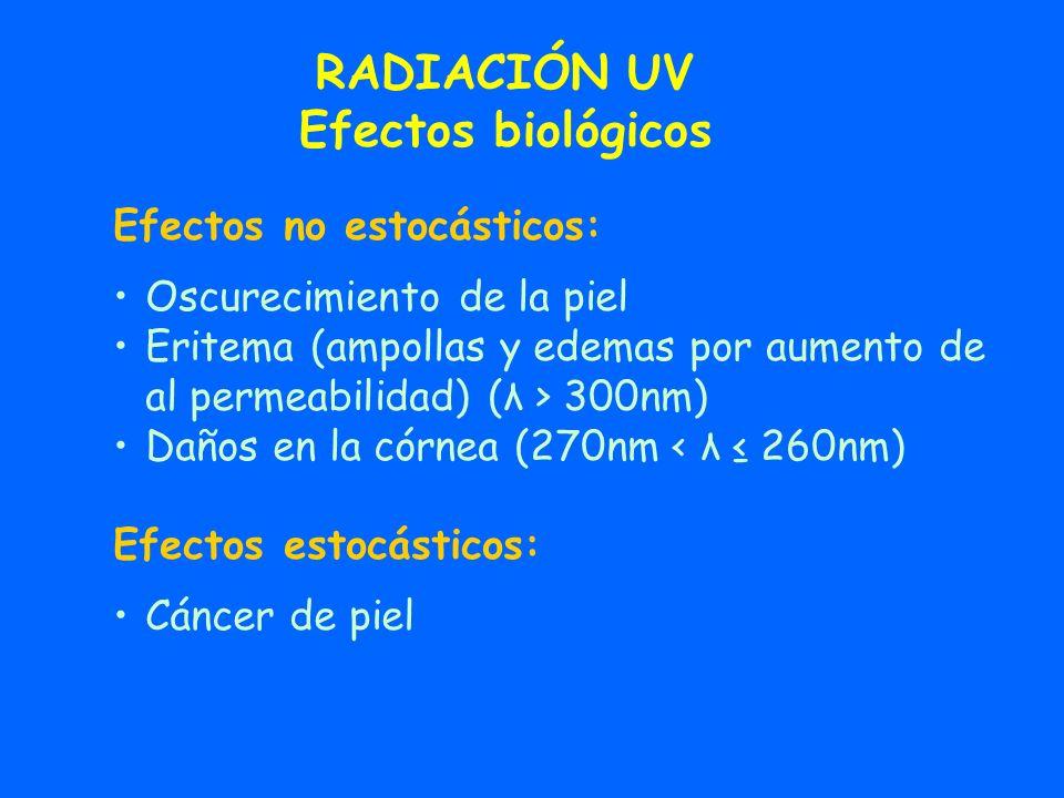 RADIACIÓN UV Efectos biológicos