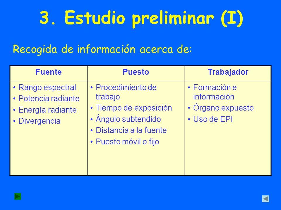 3. Estudio preliminar (I)