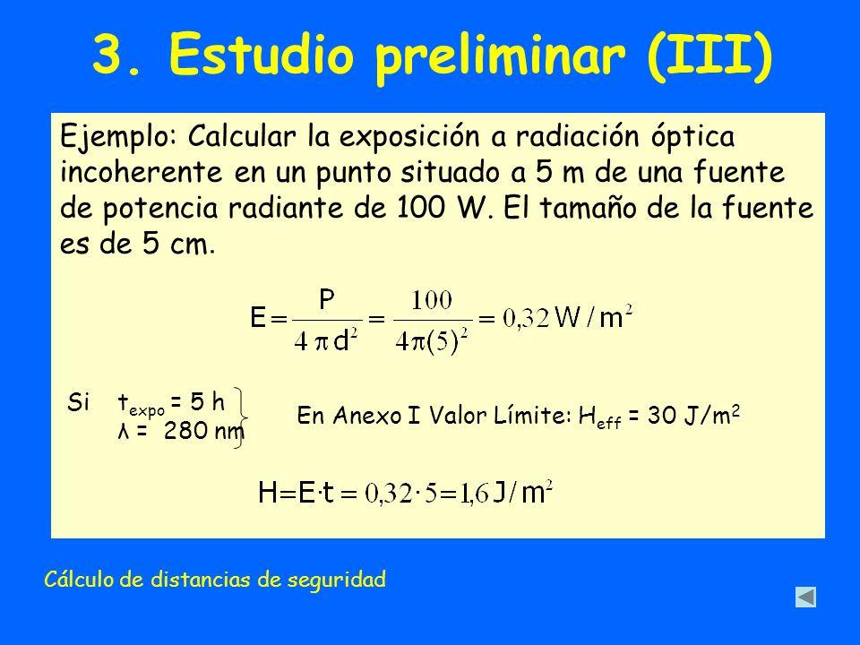 3. Estudio preliminar (III)