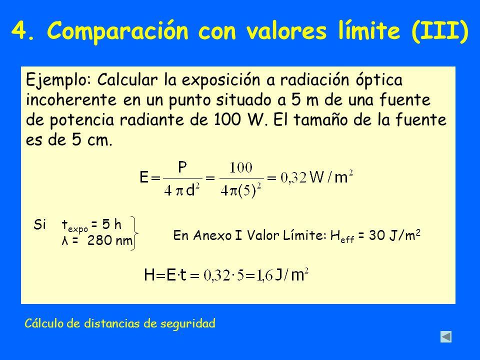 4. Comparación con valores límite (III)