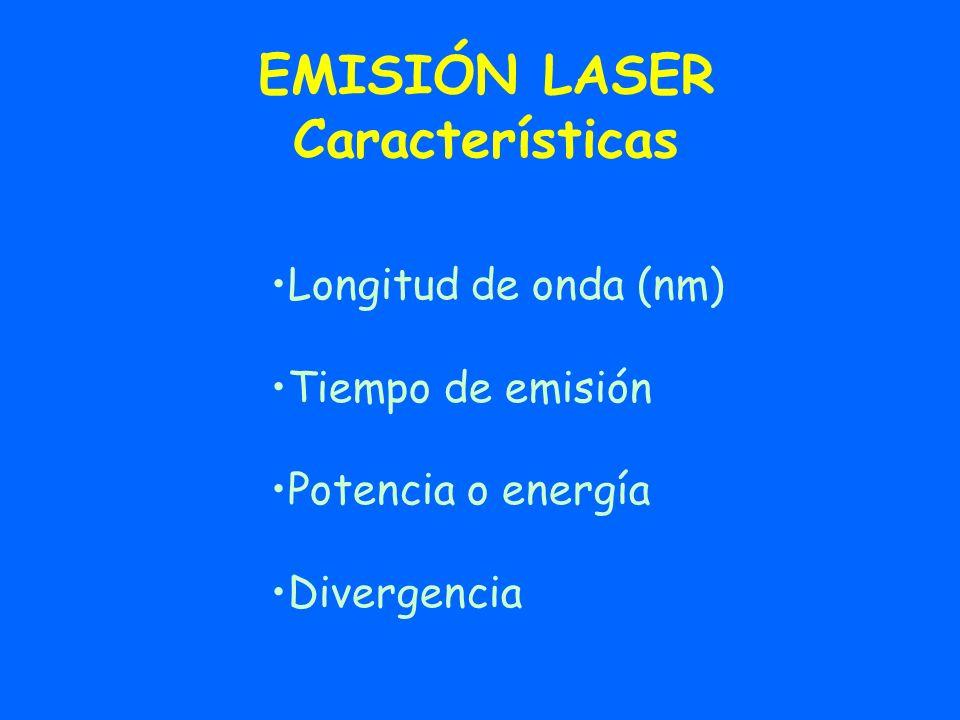EMISIÓN LASER Características
