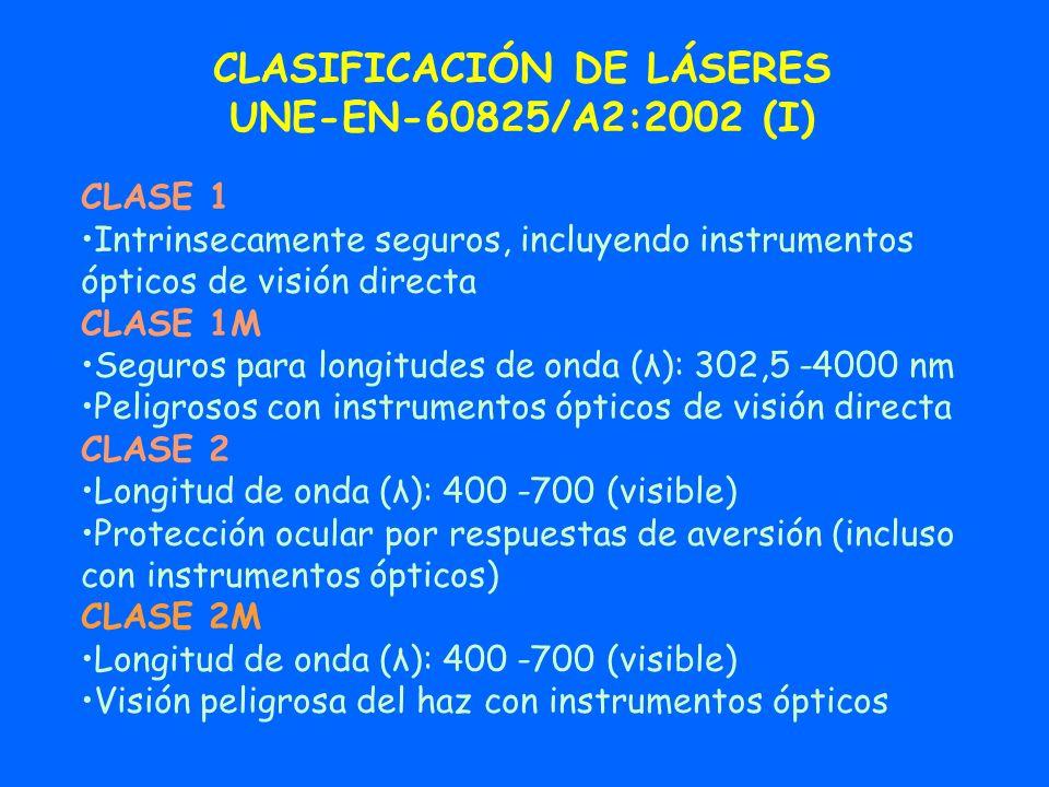 CLASIFICACIÓN DE LÁSERES