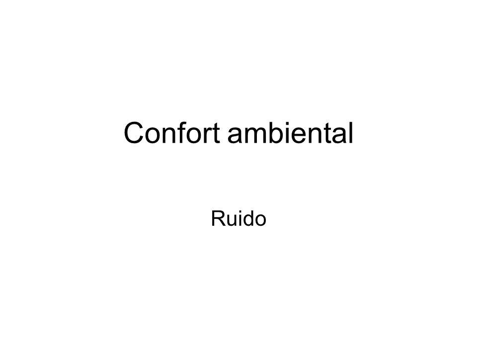 Confort ambiental Ruido