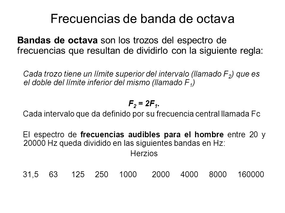 Frecuencias de banda de octava