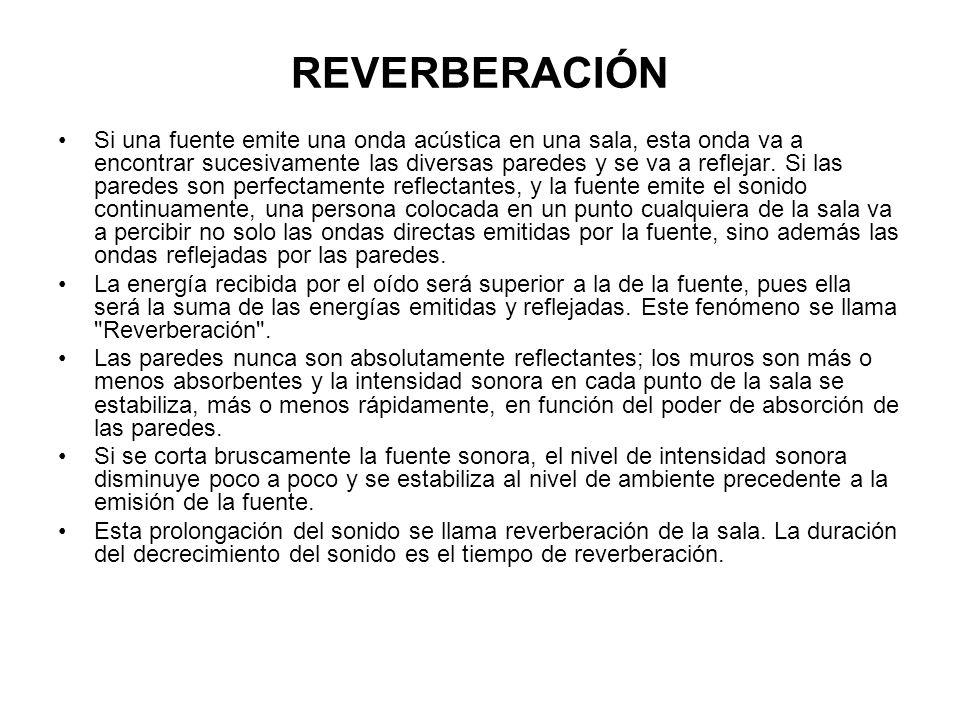 REVERBERACIÓN