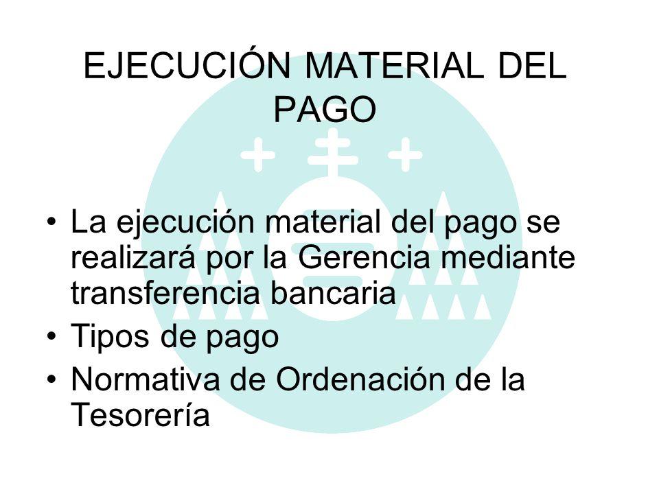 EJECUCIÓN MATERIAL DEL PAGO