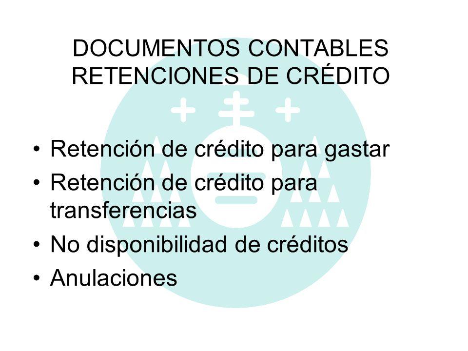 DOCUMENTOS CONTABLES RETENCIONES DE CRÉDITO