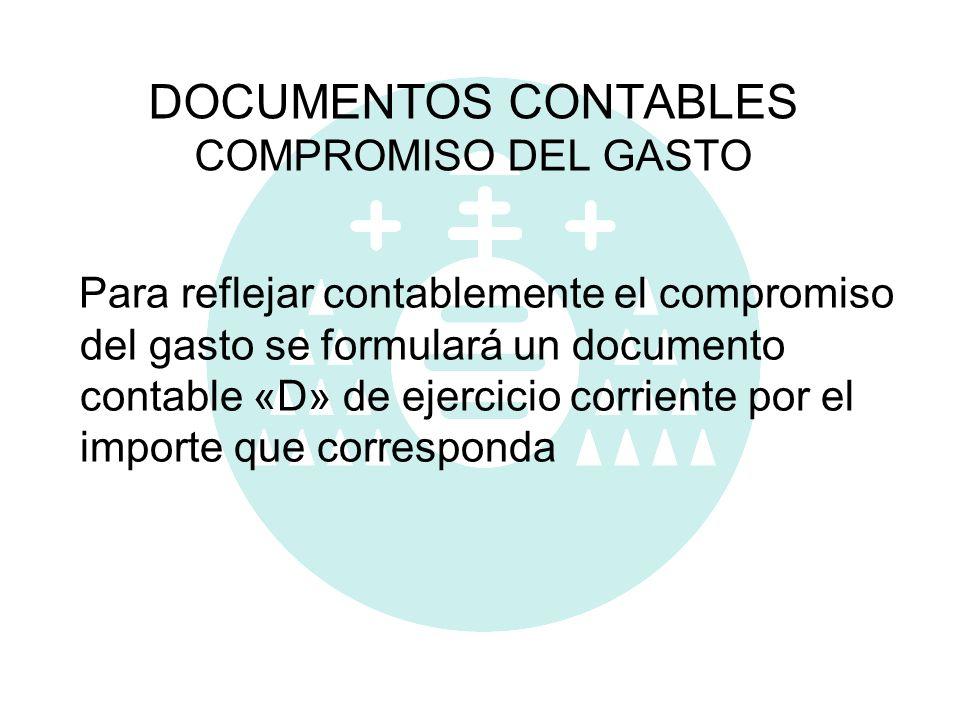 DOCUMENTOS CONTABLES COMPROMISO DEL GASTO