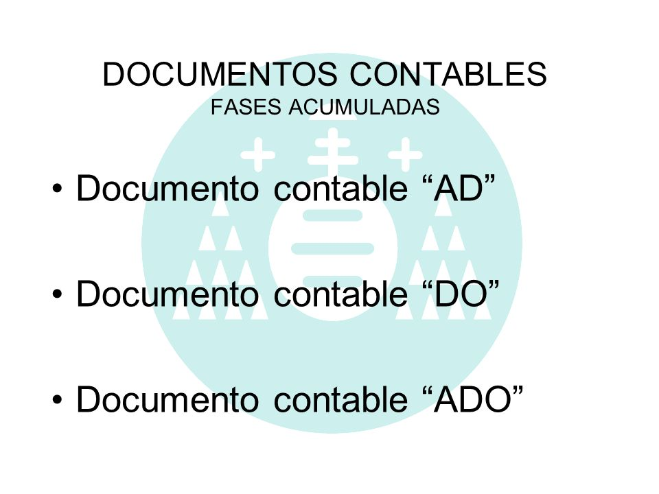 DOCUMENTOS CONTABLES FASES ACUMULADAS