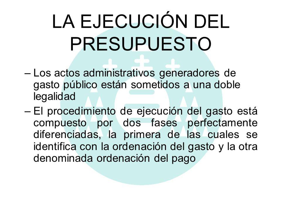 LA EJECUCIÓN DEL PRESUPUESTO