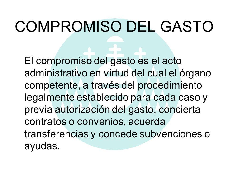 COMPROMISO DEL GASTO
