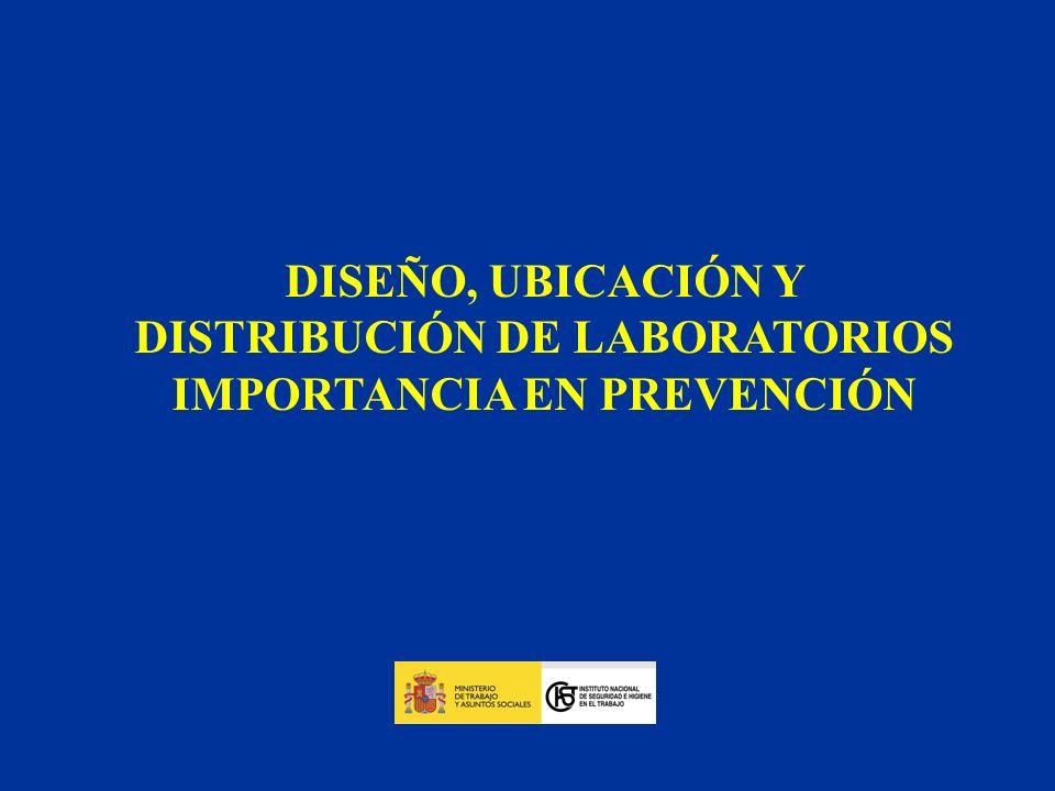 DISEÑO, UBICACIÓN Y DISTRIBUCIÓN DE LABORATORIOS
