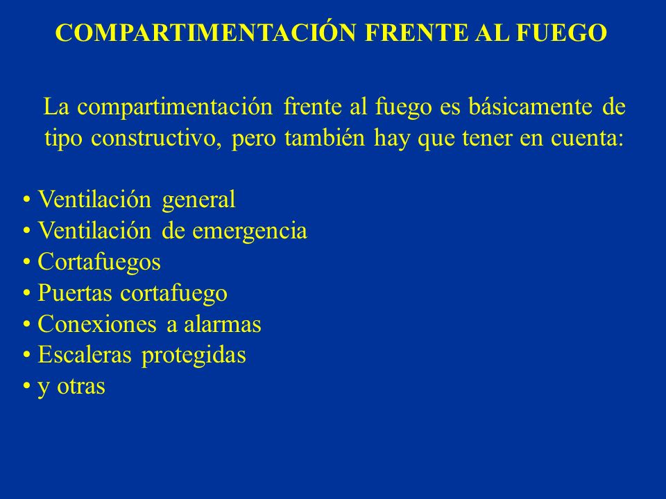 COMPARTIMENTACIÓN FRENTE AL FUEGO