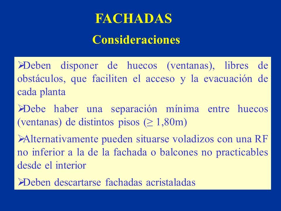 FACHADAS Consideraciones