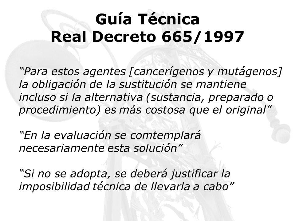 Guía Técnica Real Decreto 665/1997