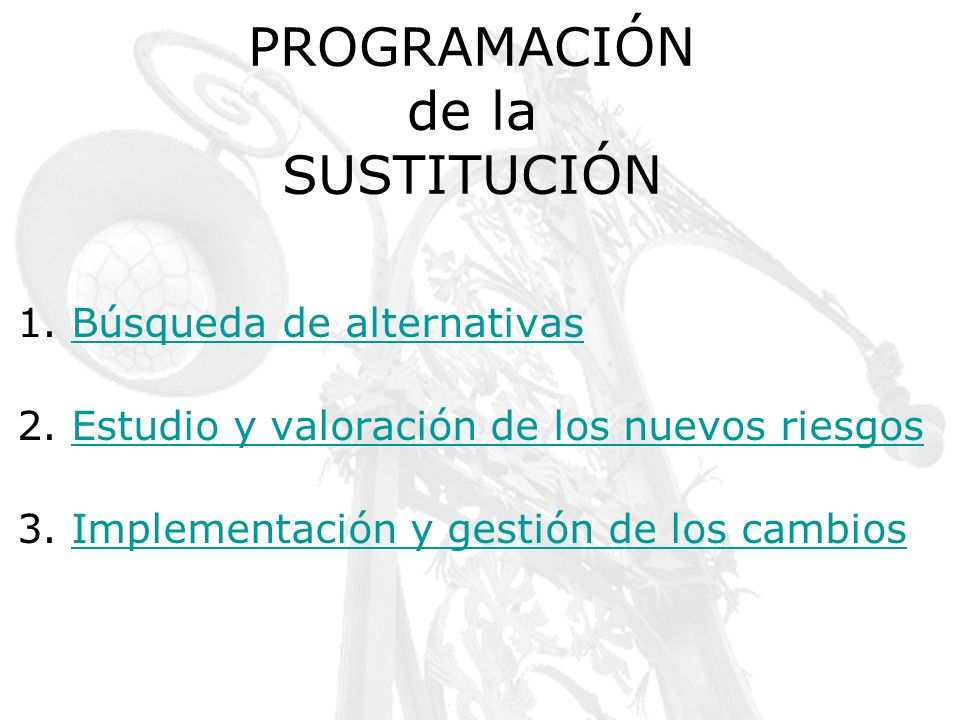 PROGRAMACIÓN de la SUSTITUCIÓN