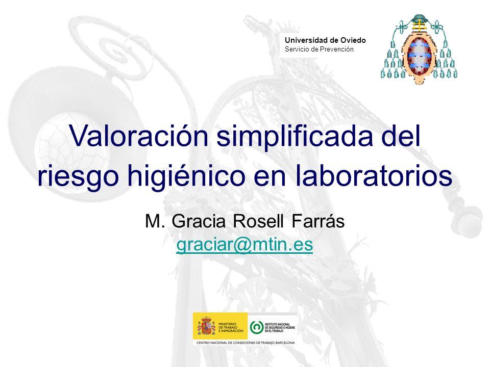 Valoración simplificada del riesgo higiénico en laboratorios