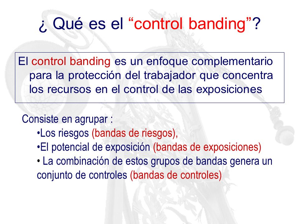 ¿ Qué es el control banding