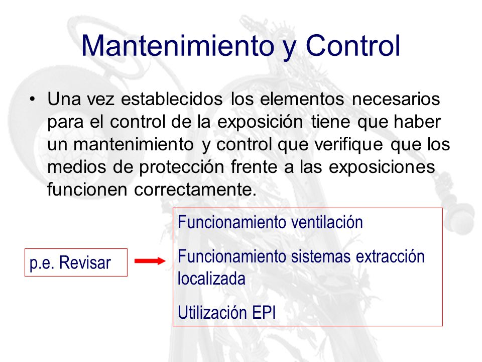 Mantenimiento y Control