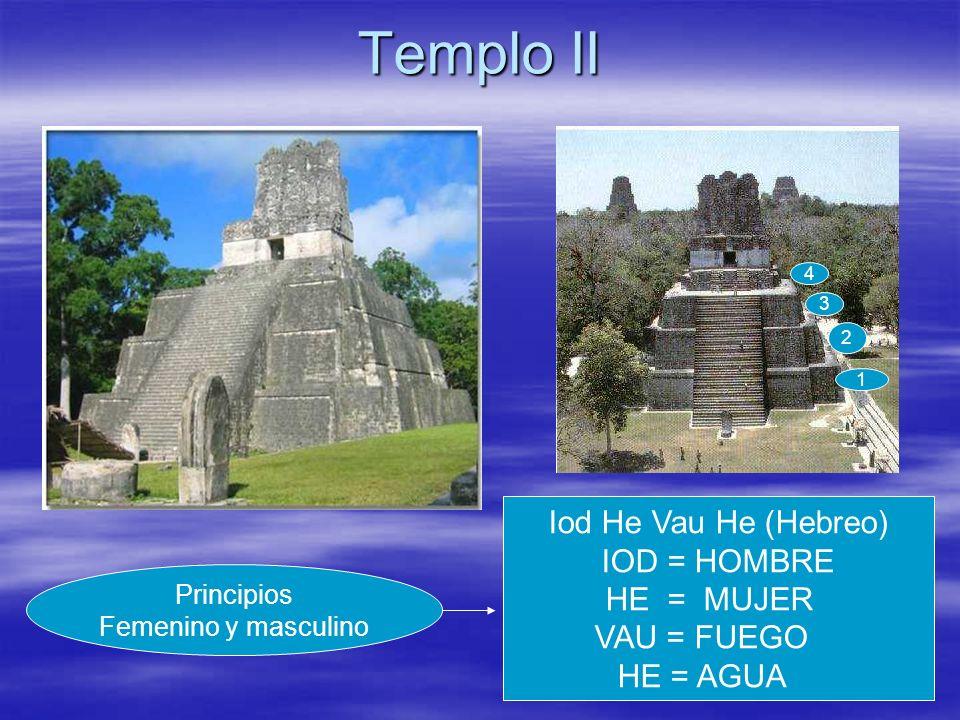 Templo II Iod He Vau He (Hebreo) IOD = HOMBRE HE = MUJER VAU = FUEGO
