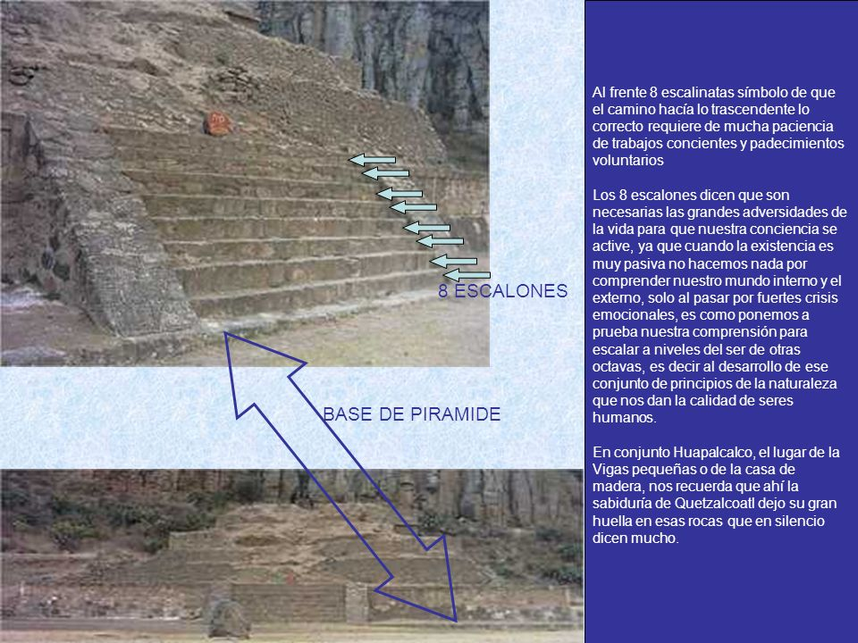 8 ESCALONES BASE DE PIRAMIDE