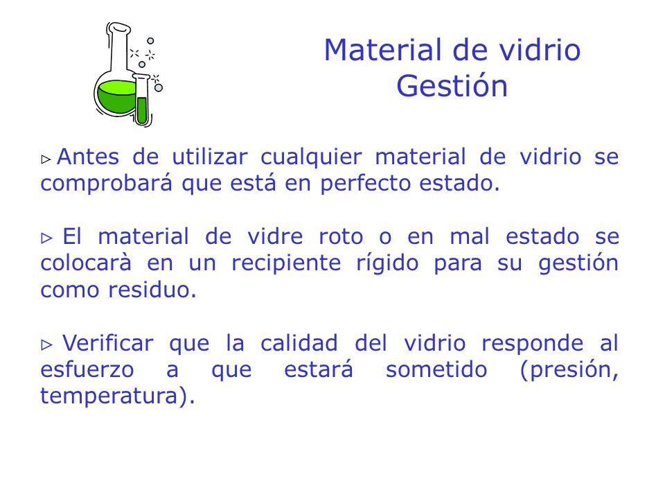 Material de vidrio Gestión