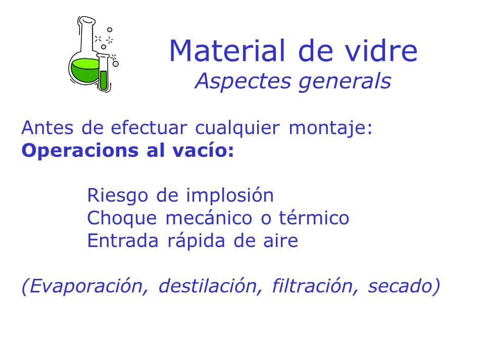 Material de vidre Aspectes generals