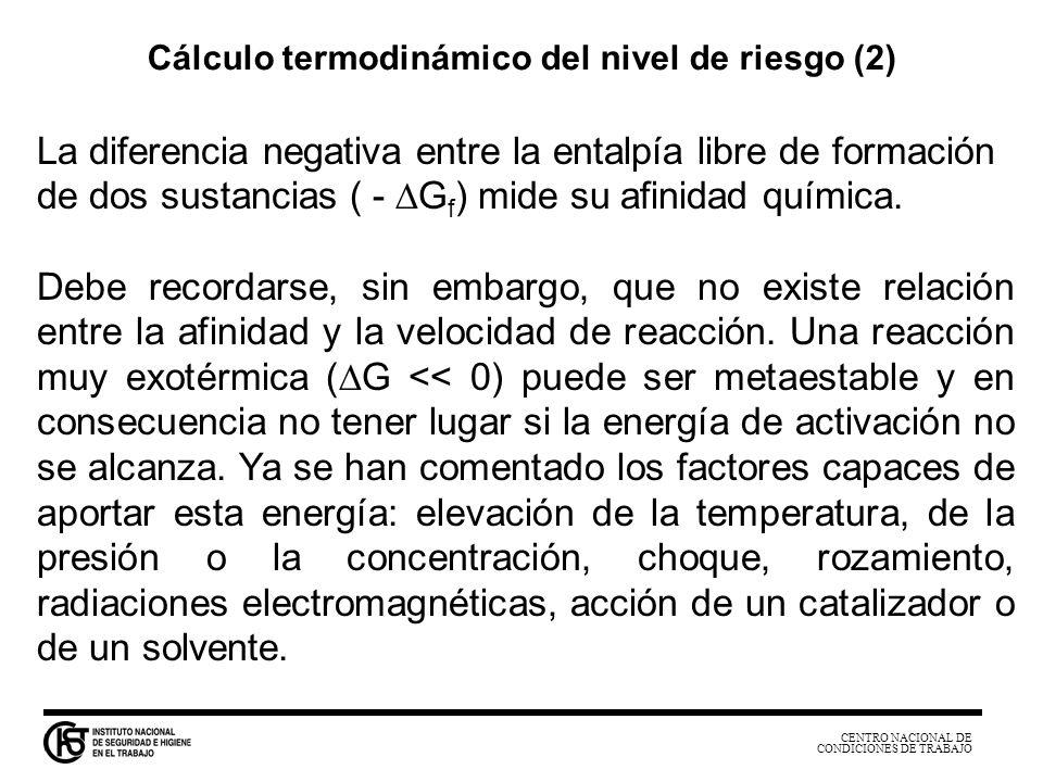 Cálculo termodinámico del nivel de riesgo (2)