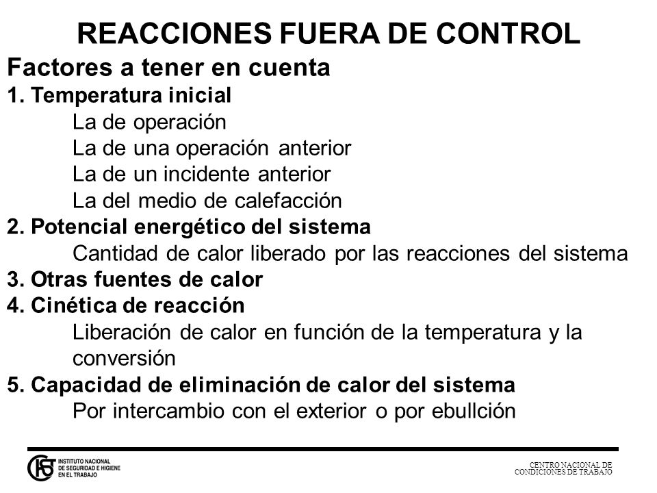 REACCIONES FUERA DE CONTROL