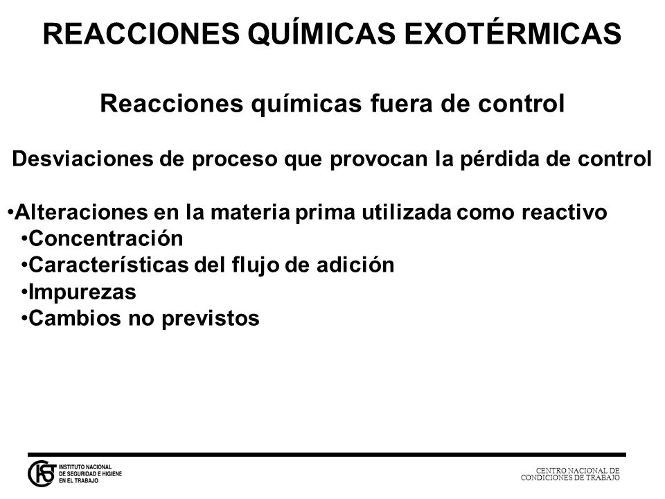 REACCIONES QUÍMICAS EXOTÉRMICAS