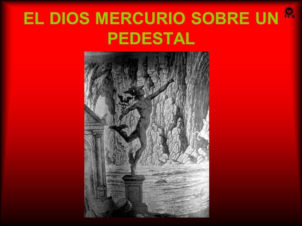 EL DIOS MERCURIO SOBRE UN PEDESTAL