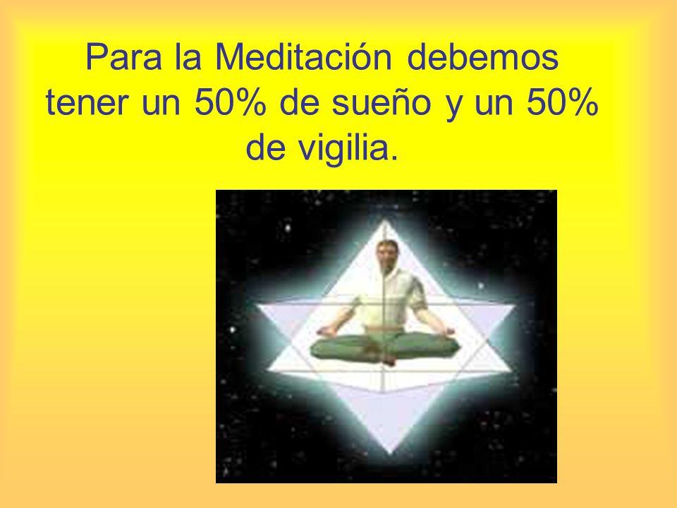 Para la Meditación debemos tener un 50% de sueño y un 50% de vigilia.