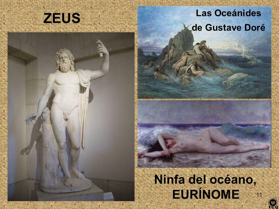 Las Oceánides de Gustave Doré ZEUS Ninfa del océano, EURÍNOME