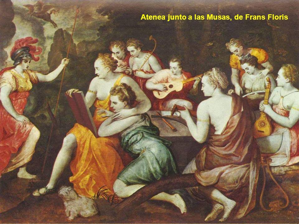 Atenea junto a las Musas, de Frans Floris