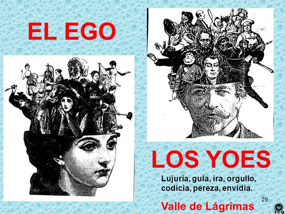 EL EGO LOS YOES Valle de Lágrimas Lujuria, gula, ira, orgullo,