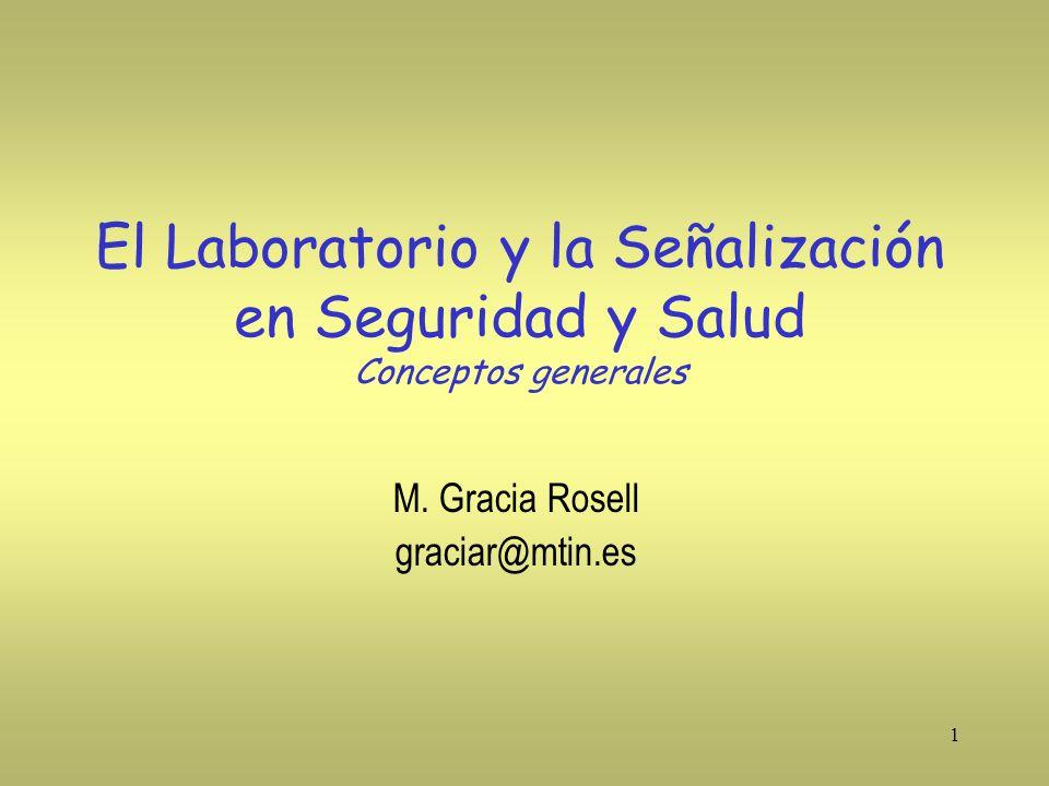 El Laboratorio y la Señalización en Seguridad y Salud Conceptos generales