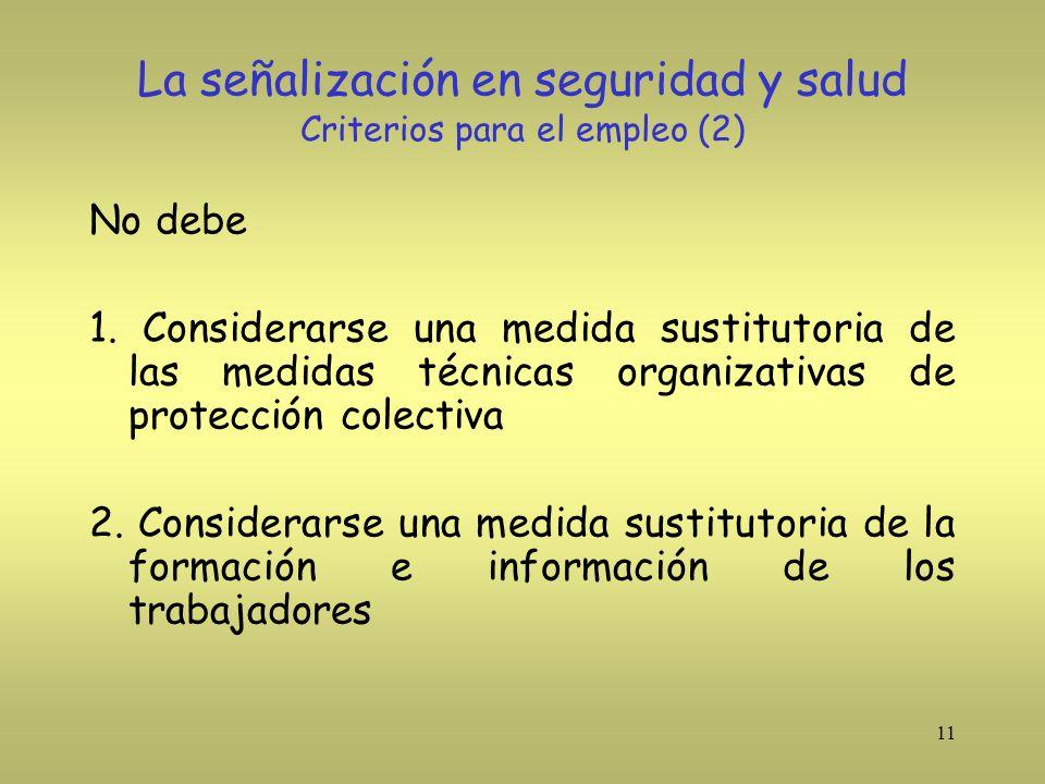 La señalización en seguridad y salud Criterios para el empleo (2)